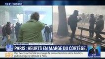 Manifestation à Paris: violents heurts entre forces de l'ordre et casseurs