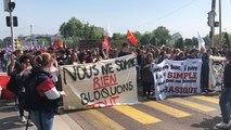 Manifestation des fonctionnaires et lycéens