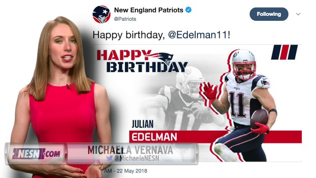 Julian Edelman spends his 32nd birthday at Patriots OTAs