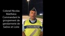 Le commandant du groupement de gendarmerie de Saône-et-Loire explique l'importante opération de contrôle réalisée sur l'A6