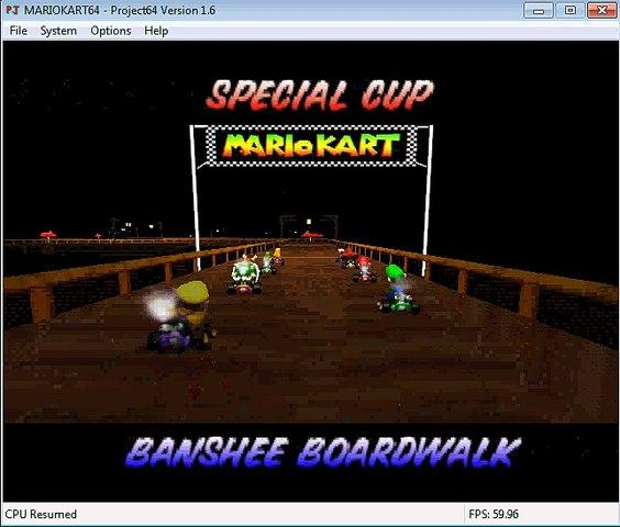 Mario Kart 64 gameplay Boo Valley