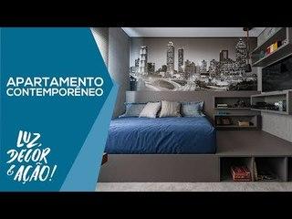 Apartamento Familiar Contemporâneo - Luz, Decor & Ação!