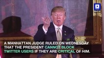 Judge Rules Trump Violated First Amendment by Blocking Users on Twitter
