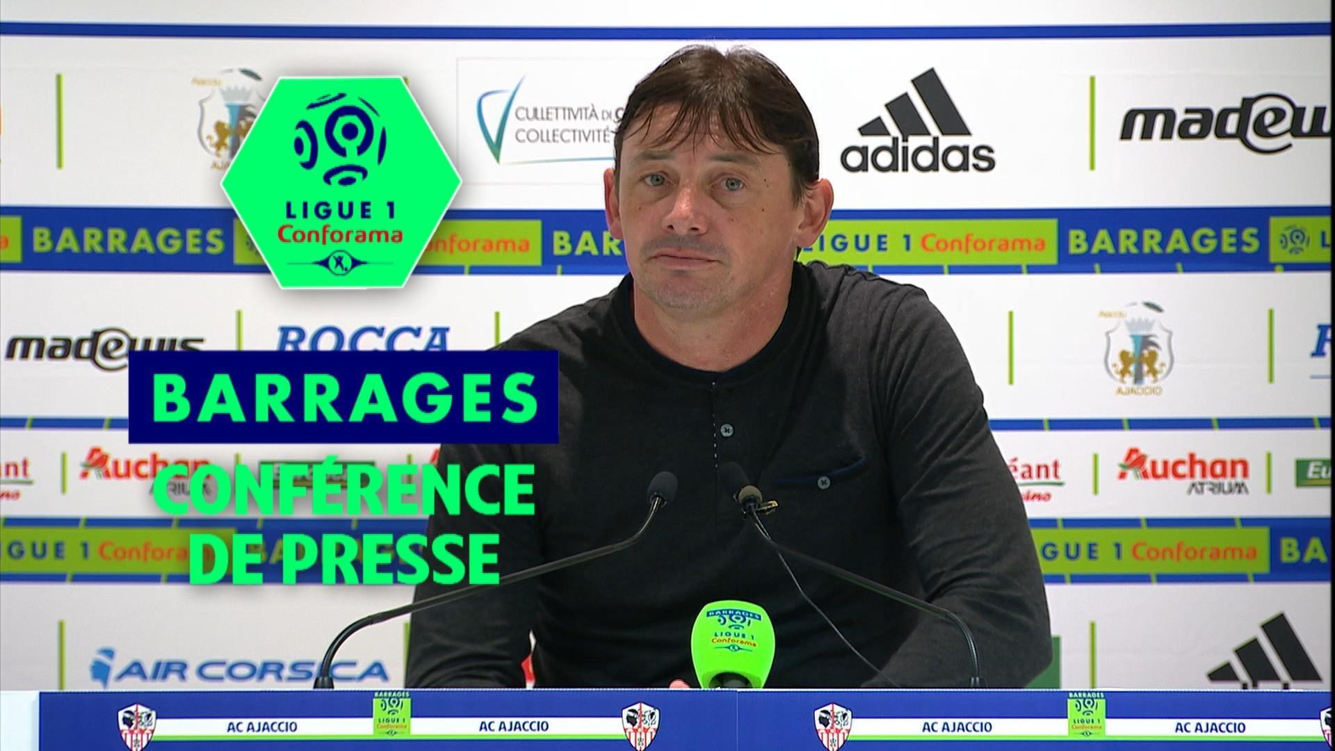 Conférence de presse AC Ajaccio - Toulouse FC (0-3) : Olivier PANTALONI (ACA) - Mickaël  DEBEVE (TFC