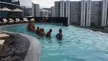 Pool recovery for the Fiji Airways 7s team. The day after the Hong Kong 7s final.#TOSOVITI