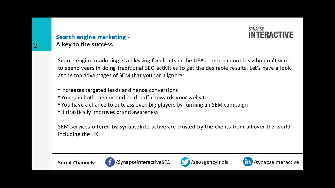 Search engine marketing services – Delivering the winning edge