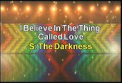 The Darkness I Believe In The Thing Called Love Karaoke Version