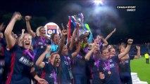Finale de la UEFA Women's Champions League - Wolfsbourg / Lyon : La remise du trophée !