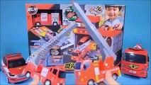 Fire station car toys Robocar Poli Tayo bus TOBOT fire car
