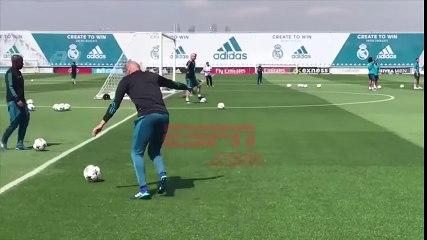Zidane et Ronaldo régalent à l'entraînement