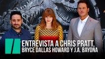 Chris Pratt, Bryce Dallas Howard y J.A. Bayona presentan Jurassic World: El reíno caído