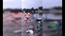Allemagne : Un homme se sert d'une poubelle pour plonger dans un fleuve !