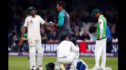 Baber Azam inju-red  During 1st Test Vs England  Pakistan Vs England 1st Test Day 2