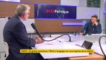 """SNCF : """"Enfin il y a une annonce du gouvernement sur la reprise de la dette"""", réagit Pierre Laurent. Mais selon lui, le gouvernement """"veut ouvrir au privé, ce qui va conduire à la fermeture et à la privatisation de beaucoup de petites lignes"""""""