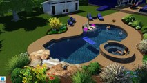 Monogram Custom Homes & Pools Builders Designs and Constructs Luxury Swimming Pools