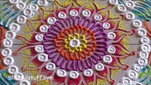 Beautiful and easy free hand rangoli   Creative rangoli design   Poonam Borkar rangoli designs