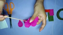 How To Make Sun Flowers With Paper In Hindi Video Dailymotion