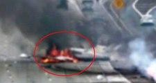 Almanya'da Alevler İçinde Kalarak Yere Çakılan Uçağın Pilotu Yanarak Can Verdi