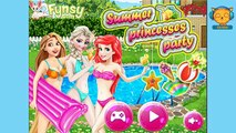 Summer Princesses Party - Disney Princess games videos for girls - 4jvideo