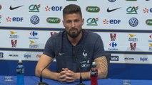 """Bleus - Giroud : """"On a tous en tête les deux buts de Zizou"""""""