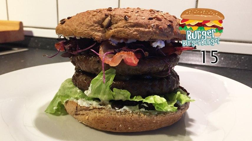 Double-Burger mit Ricotta, Rosinen und Bacon - BurgerBurgerBurger 15