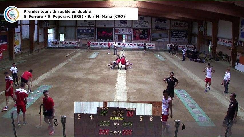 Premier tour, tir rapide en double, CRO Lyon contre BRB Ivrea, quart de finale retour, 29ème Coupe d'Europe des Clubs, Aix-les-Bains 2018