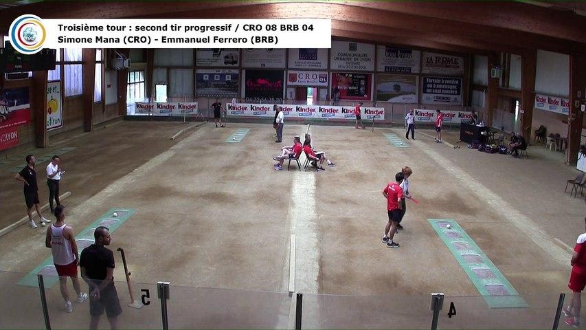 Troisième tour, second tir progressif, CRO Lyon contre BRB Ivrea, quart de finale retour, 29ème Coupe d'Europe des Clubs, Aix-les-Bains 2018