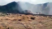 Cyclone Mekunu causes big waterfalls in Oman...!!!Live footage...!!!