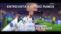 RAMOS HABLA DE LO QUE DIJO CRISTIANO | ENTREVISTA A SERGIO RAMOS DESPUES DE GANAR LA CHAMPIONS / RAMOS SPEAKS OF WHAT HE SAID CHRISTIAN | INTERVIEW WITH SERGIO RAMOS AFTER WINNING THE CHAMPIONS