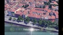 Vérone (Italie) : Itinéraire de visite touristique et culturelle par vue aérienne de la ville en 3D