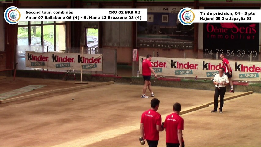 Second tour, second tir de précision, CRO Lyon contre BRB Ivrea, quart de finale retour, 29ème Coupe d'Europe des Clubs, Aix-les-Bains 2018