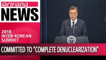 """S. Korea's Moon says N. Korea's Kim is committed to """"complete denuclearization,"""" summit with Trump"""