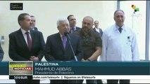 Presidente de Palestina es dado de alta tras ocho días hospitalizado