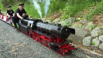 The $ 30,000 Live Steam Locomotive 7 1/4 Inch Gauge Model Railway - Pilentum Television Model Railway and Model Trains