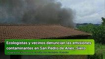 Ecologistas y vecinos denuncian las emisiones contaminantes en San Pedro de Anes, Siero, Asturias
