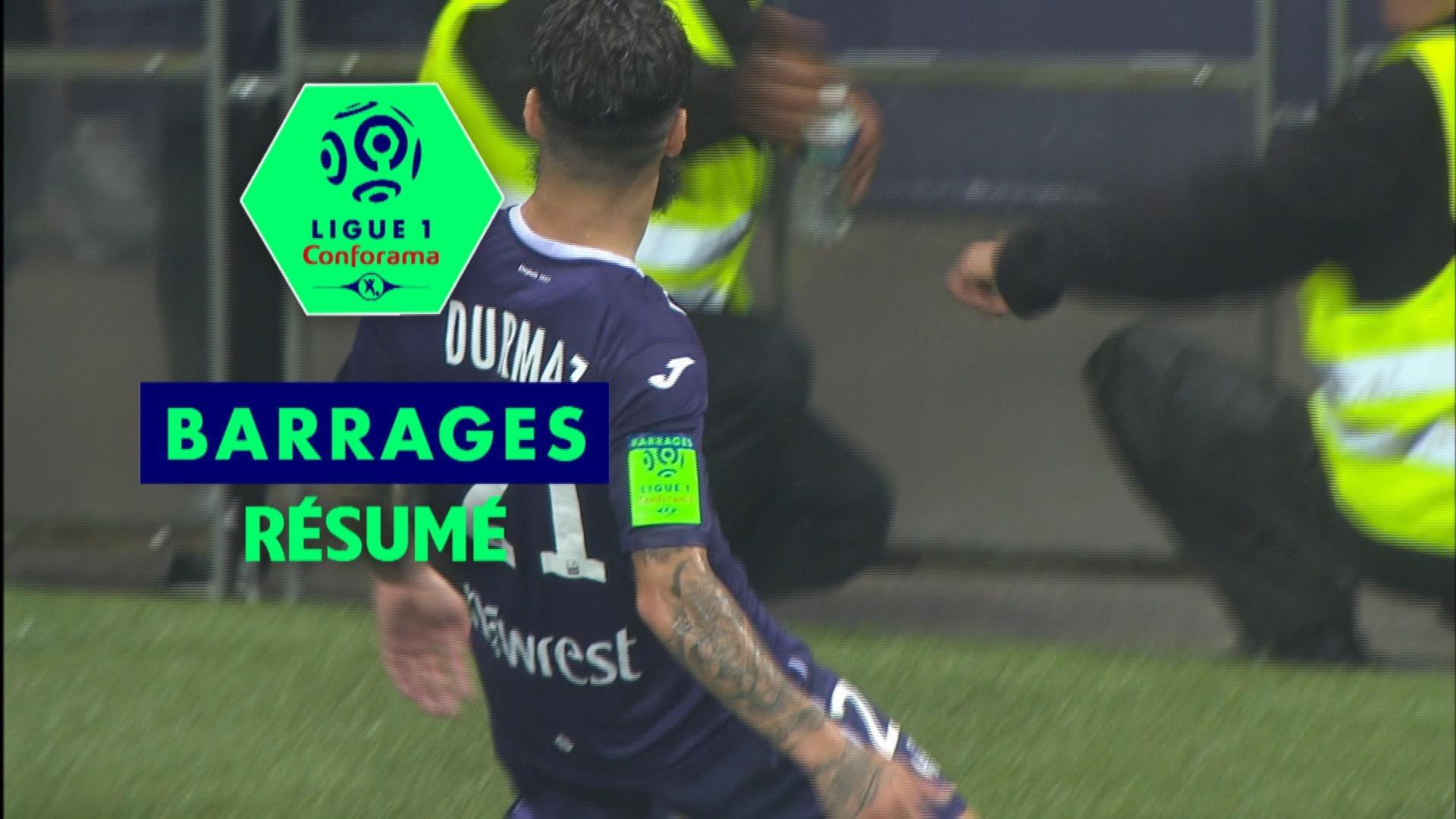 Toulouse FC - AC Ajaccio (1-0) Résumé / Barrage Retour / 2017-18
