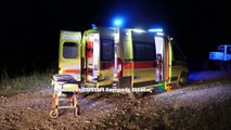 H επιχείρηση απεγκλωβισμού τραυματία σε τροχαίο κοντά στα Δύο Βουνά Λαμίας