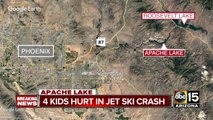 Four children hospitalized after jet skis collide at Apache Lake