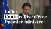 Italie : Giuseppe Conte renonce à être Premier ministre
