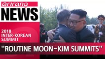 S. Korea's Moon says more simple inter-Korean summits like the 2nd Moon, Kim meeting could happen in the future