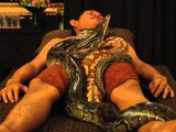 AFP: Destressss with an Indonesian snake massage