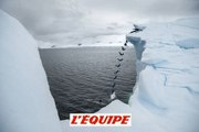 La vidéo du saut d?Orlando Duque depuis un iceberg en Antarctique - Adrénaline - Plongeon