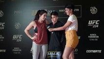 Fan Chokes Out Mackenzie Dern at UFC 224 Workouts - MMA Fighting
