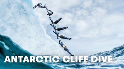Cliff Diving off an Iceberg in Antarctica? This guy did it.