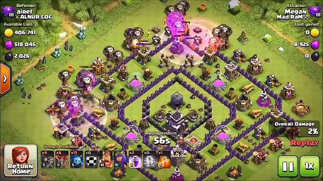 EASY FARMING! – Drop Loons Gain Loot! NO HOUNDS NEEDED! – Clash of Clans – DE Farming