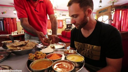 TRADITIONAL RAJASTHANI THALI and Visiting AMER FORT, Crown Jewel of RAJASTHAN | Jaipur, India