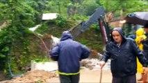 Karadeniz Sahil Yolu'nda şiddetli yağış ve heyelan