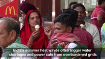 Crippling heat wave grips Indian capital