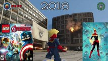 Carol Danvers (Captain Marvel) Evolution in Lego Marvel Videogames!