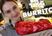 Competitive Eater Nela Finishes 1KG Burrito in Under 100 Seconds